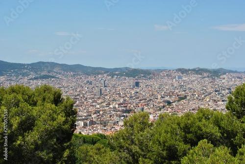 Aluminium Barcelona Panorama Barcelony