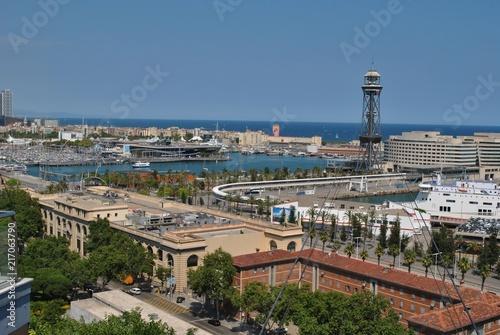 In de dag Barcelona Port w Barcelonie