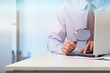 Leinwanddruck Bild - Business analytics and statistics concept