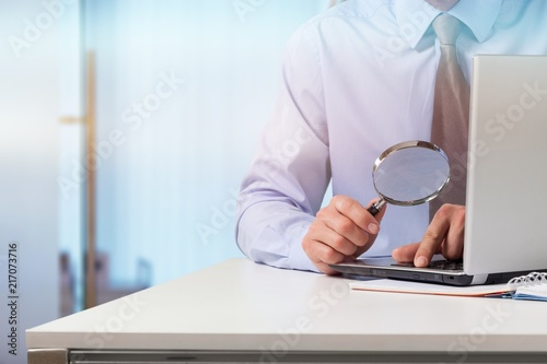 Leinwanddruck Bild Business analytics and statistics concept