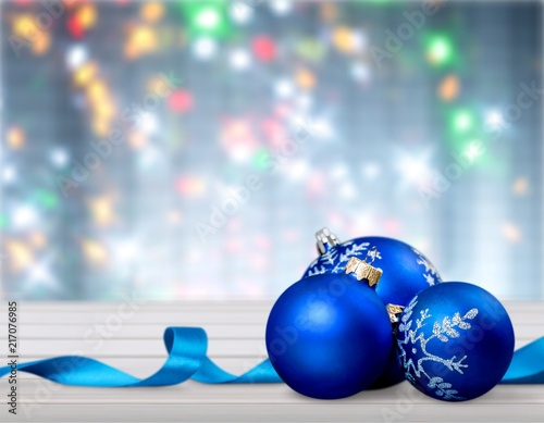 Foto Murales Christmas decorations isolated  on white background