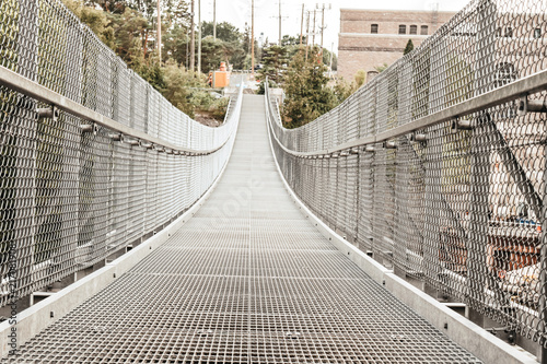Foto Murales Suspention bridge architiecture scene
