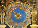 Venice,Italy-July 25, 2018: Ancient clock in Doge's Palace or Palazzo Ducale, Venice