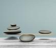Quadro Zen basalt stones on desk