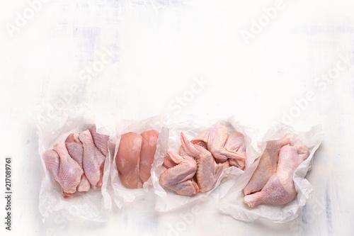 Raw chicken meat - 217089761