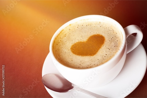 Coffee cup on desk - 217095752