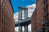 Famous view to Manhattan bridge in New York city