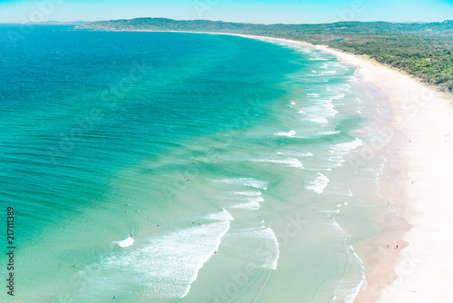 Plexiglas Tropical strand The Byron bay on the top view,Australia