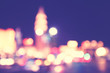 Blurred city lights at night, color toning applied. - 217113130
