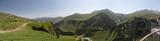 Panorama view of the Caucasus mountains in Georgia