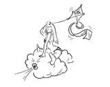 Vliegen op een wolk - 217115169
