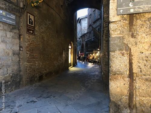 Aluminium Smalle straatjes Italien