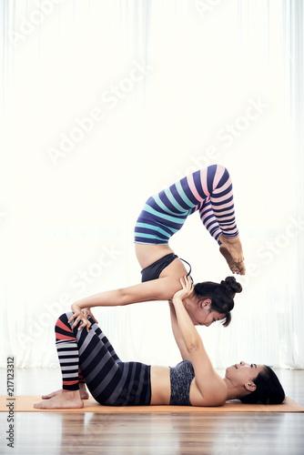 Obraz na płótnie Acroyoga practice