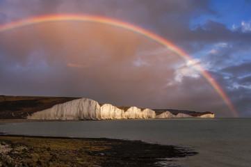 Rainbow over the Chalk Cliffs