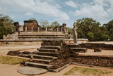 Ruins of an ancient buddhist temple from an ancient village