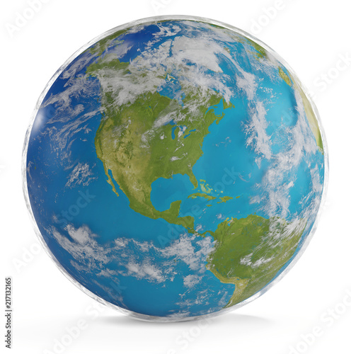 Foto Spatwand Wereldkaarten world map world globe north and south america. elements of this image furnished by NASA