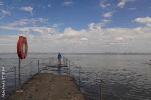 Canvas Noordzee Faszination Wattenmeer; Auflaufendes Wasser in Burhave