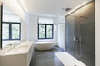 Bathtub in corian, Faucet and shower - 217134956