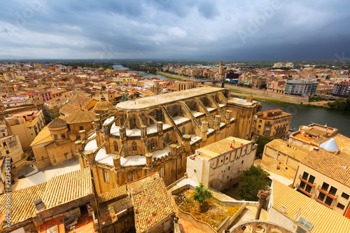 Tortosa with Cathedral from  castle