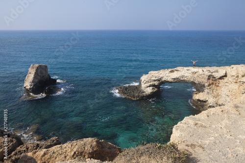 In de dag Cyprus love bridge in cyprus
