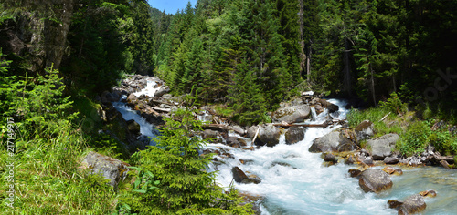 In de dag Bergrivier mountain river