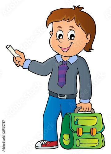 Canvas Voor kinderen Happy pupil boy theme image 7