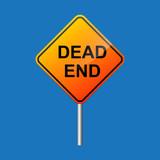 Dead end street road sign. - 217155388