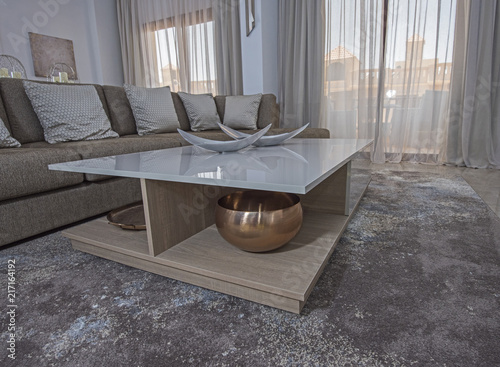 Projektowanie wnętrz salonu luksusowy apartament