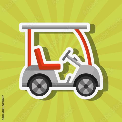sport golf car transport equipment vector illustration vector illustration - 217185777