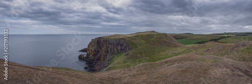 The impressive Sea Cliffs At St Abbs Head on the Scottish border