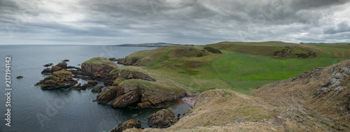 Foto Spatwand Donkergrijs The impressive Sea Cliffs At St Abbs Head on the Scottish border