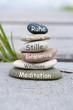 Quadro gestapelte Steine Wellnes Erholung Meditation Ruhe Entspannung