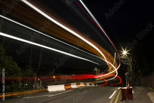 Aluminium Nacht snelweg Bus Light Painting