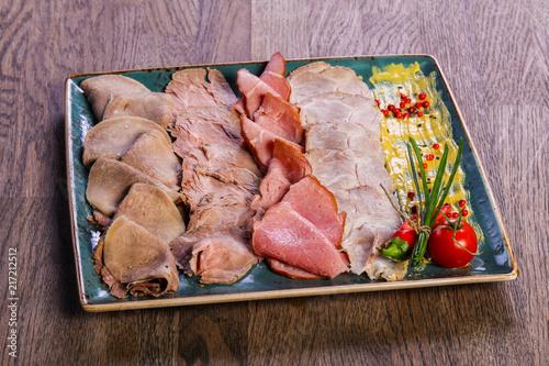 Foto Murales Pork meat plate snack