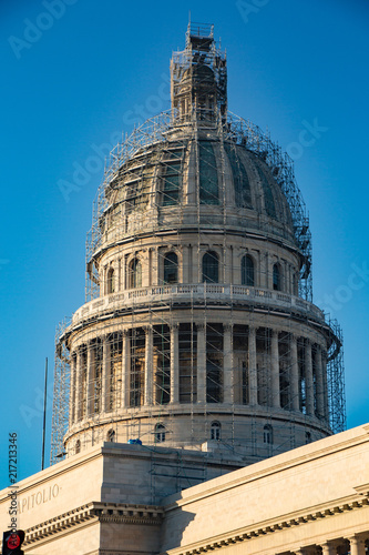 Capital building dome in Havana, Cuba