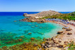 Leinwanddruck Bild - Sea skyview landscape photo Ladiko bay near Anthony Quinn bay on Rhodes island, Dodecanese, Greece. Panorama with nice sand beach and clear blue water. Famous tourist destination in South Europe