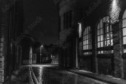 Dark and rainy street