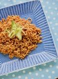 아시아 음식 비빔라면