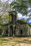 Old Church in the shade of trees