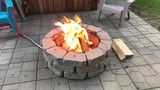 Campfire on our patio - 217270342