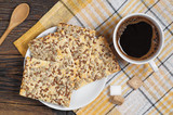 Coffee and cookies with seeds