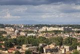 Aerial view of Rome and Castel Sant'Angelo from Gianicolo hill
