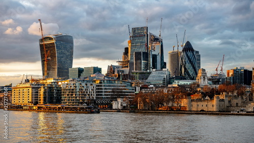 Foto Murales City of London one of the leading centres of global finance.this view includes