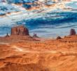 Leinwanddruck Bild - Monument Valley National park on a beautiful summer day