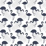 Flamingo Birds Seamless pattern. Tropical Background - 217281387