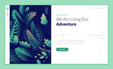 Web page design template for beauty, spa, wellness, natural products, cosmetics, body care, healthy life. Modern flat design vector illustration concept for website and mobile website development.  - 217284300