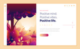 Web page design template for beauty, spa, wellness, natural products, cosmetics, body care, healthy life. Modern flat design vector illustration concept for website and mobile website development.  - 217284353