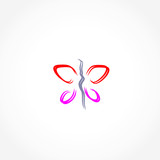 butterfly icon vector illustration