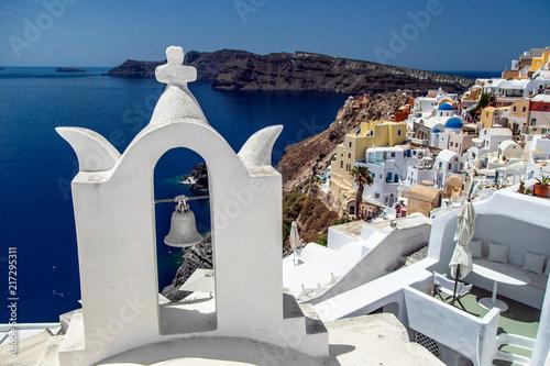 Foto Spatwand Santorini Church