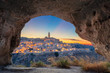 Quadro Matera, Italy. Cityscape image of medieval city of Matera, Italy during beautiful sunset.